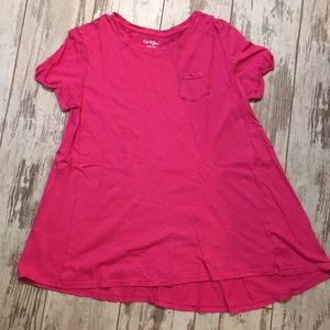 Pink kids shirt with pocket in front